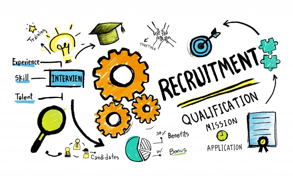 Recruitment Application Planning Working Strategy Concept